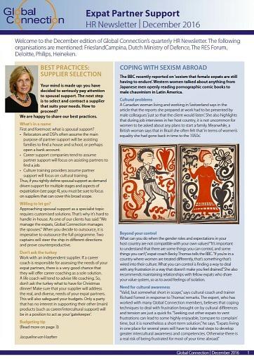 cover image of HR Newsletter December 2016